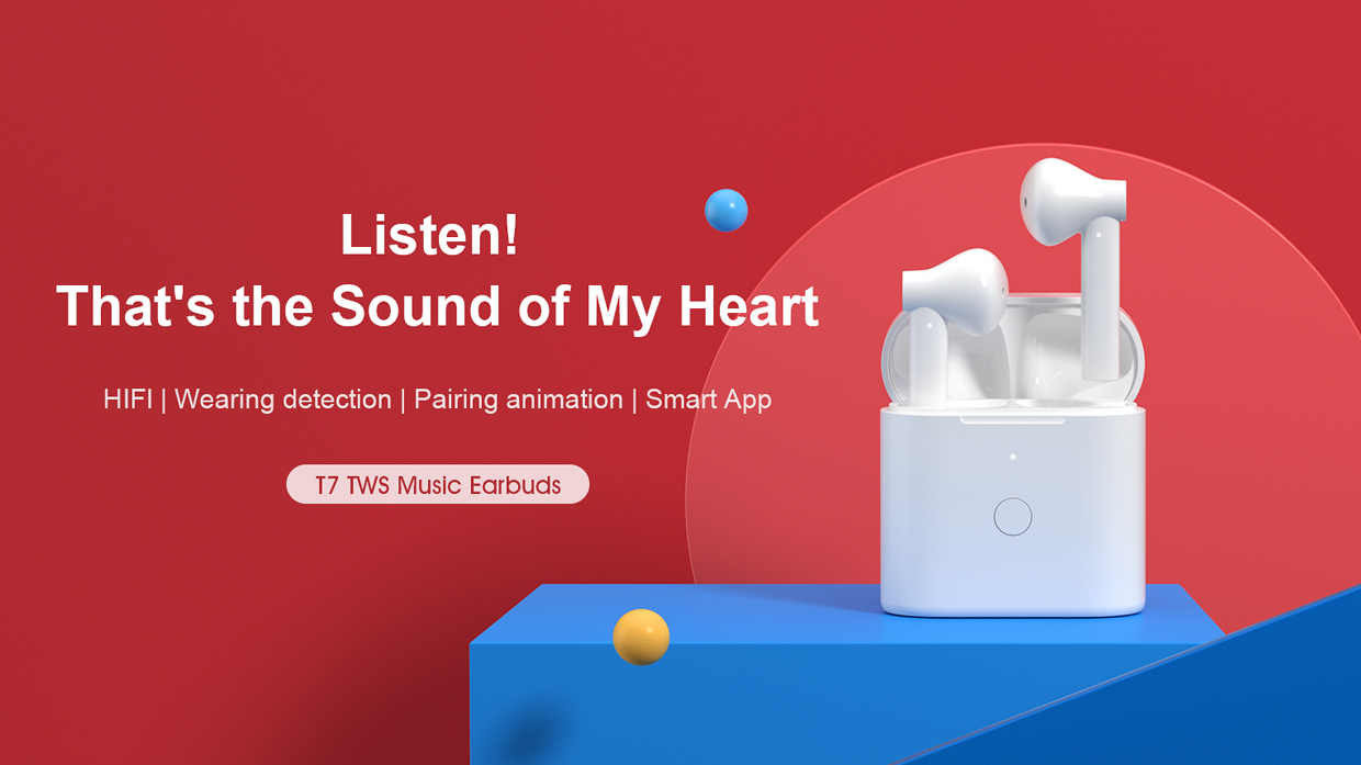 QCY T7 TWS Smart Earbuds
